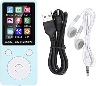 $20 » Qiilu Music Player Compact and Lightweight MP4 Music Player Portable Non-Slip for Home Travel School Study(Blue)