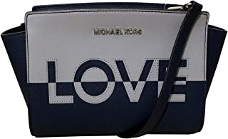 Women's Selma Stud Medium Leather Messenger Bag Cross Body