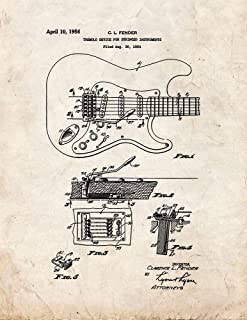 Clarence Fender Tremolo Device for Stringed Instruments Patent Print Old Look (5