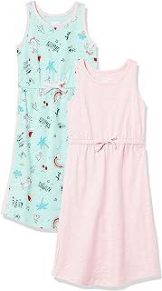 Marchio Amazon - Spotted Zebra - Confezione Da 2 Maxi Abiti Senza Maniche., playwear-dresses Bambina