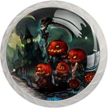 Lade knop Pull handvat 4 stuks Crystal Glass Cabinet lade trekt kast knoppen, kleur Halloween
