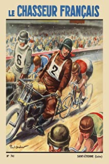 Le Chasseur Francaise Fine Art Vintage Bicycle Poster Print (6-Sizes Starting at $29) (11 x 17 inches)