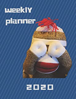 2020 MONTHLY WEEKLY PLANNER FOR SOCK MONKEY LOVERS: Beautiful planner calendar organizer for 2020 with cover themed for sock monkey lovers. Great gift idea also.