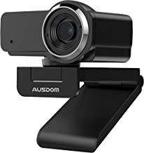 Webcam 1080P with Microphone, AUSDOM AW635 Wide Angle USB Camera, Plug and Play, for PC Monitor Laptop, Video Calling/Reco...