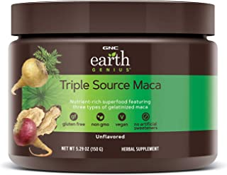 GNC Earth Genius Triple Source Maca, Unflavored, 30 Servings