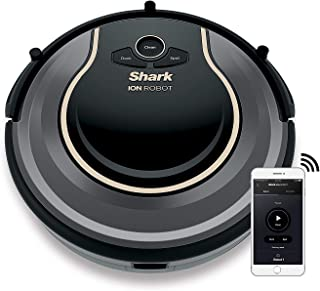 Shark ION Robot Vacuum Cleaning System S86 Built-in Hand Vacuum with Charging Dock RV852WVQPL WiFi App for Android iOS Smart Sensor Navigation 2.0 HEPA Filter Anti-Allergen RV852
