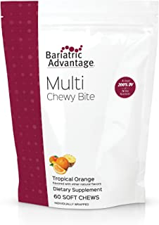 Bariatric Advantage - Multi Chewy Bite, Soft Chew Multivitamin for Bariatric Patients, Gastric Bypass, Bariatric Sleeve, 6...