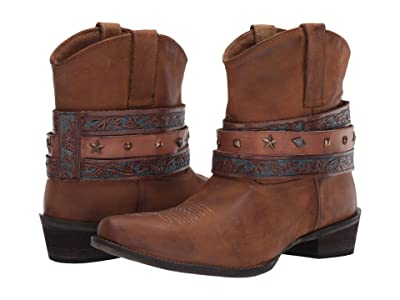 Roper Do Si Do (Tan Leather) Cowboy Boots