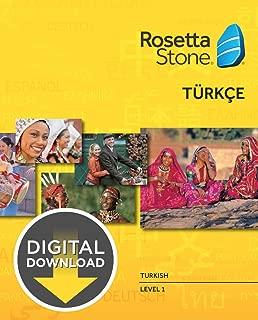 Rosetta Stone Turkish Level 1 [Download]