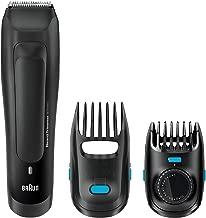 Braun BT5050 - Recortadora de barba recargable de precisión con ajustes de longitud cada 0,5 mm, color negro, batería, 2015