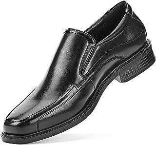 Men's Dress Shoes Leather Loafer Square-Toe Slip On