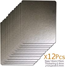 without brand FMN-Home, 12pcs 12 * 15cm Las Placas de Mica Recambios espesantes Hornos Microondas Hojas for la Galanz for Midea for Panasonic LG etc for magnetrón Cap