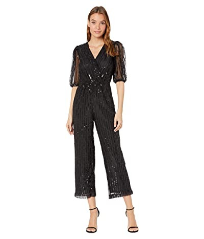 BB Dakota Shine Line Jumpsuit (Black) Women