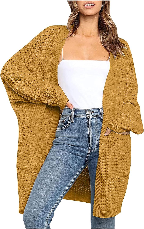 Women's Winter Sweaters Cardigan Long Sleeve Warm Chunky Knit Sweater Open Front Cardigans Shawl Outwear Coat