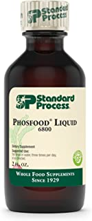 Standard Process - Phosfood Liquid - Supports Healthy Blood Calcium-Phosphorous Ratio and Bone Health, 35 mg Phosphorus, Gluten Free and Vegetarian - 2 fl oz.