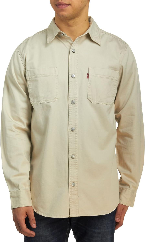 Levis Classic Denim Workshirt - Camisa de Trabajo para Hombre, Color Caqui