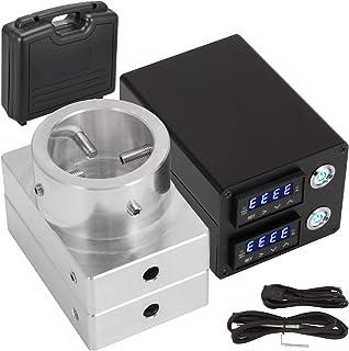VEVOR 3X5 Inch Heat Press Kit 110V Heat Press Plates 6061 Aluminum Plates Kit with Dual Digital PID Temperature Controller Box and 2 X Heating Rods