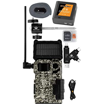 SPYPOINT Link-Micro-S-LTE Solar Cellular Trail Camera with LIT-10 Battery, Micro SD Card, Card Reader, and Mount (Nationwide (AT&T))