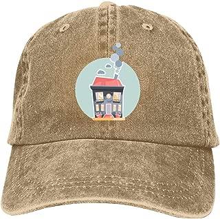 LeoCap House Baseball Cap Unisex Washed Cotton Denim Hat Adjustable Caps Cowboy Hats
