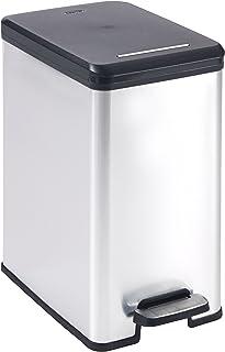 Curver 213300 Cubo de Basura Slim, 25L, 42 x 25 x 45 cm, Gris