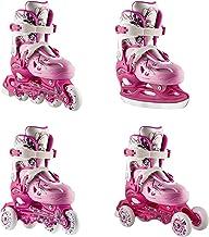 Nils 4-in-1 inlineskates, rolschaatsen, triskates, schaatsen, model NH0320A, maat 31-38, keuze kleuren uit roze, paars en ...