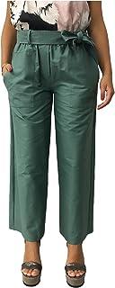 RUE 8ISQUIT pantalone donna verde 97% cotone 3% elastan MADE IN ITALY