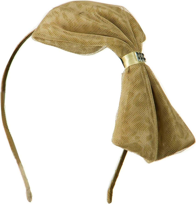 MAGID Big Ribbon Leopard Print Headband - Camel W03S27D