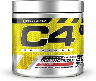 Pre-workout Powder C4 Original Fruit Punch | Pre-workout Energy Drink Supplement | 150mg Cafeïne + Bèta-alanine + Creatin...