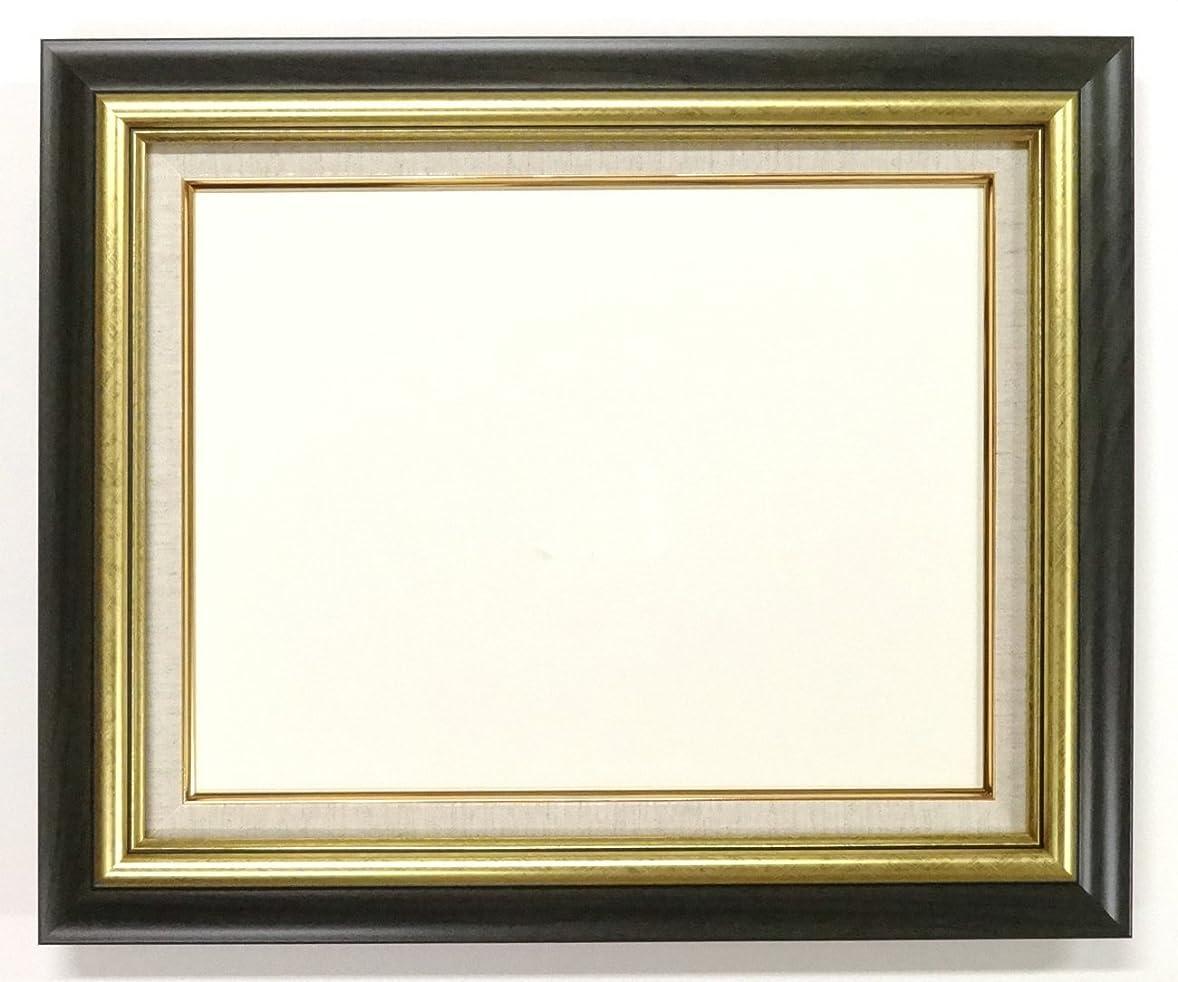 半径割り込み学者大額 油彩用額縁 8116 アクリル仕様 壁用フック付 (F6, グリーン)