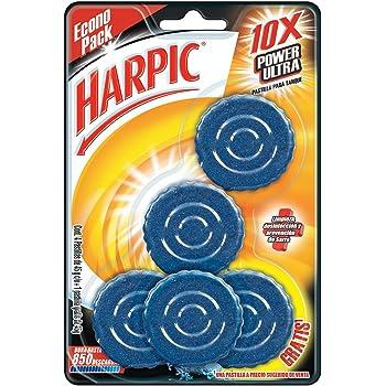 Harpic Pastillas Acuáticas Azules, 5 Piezas