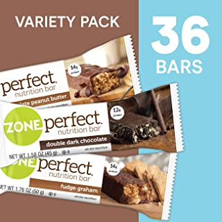 ZonePerfect Protein Bars, Variety Pack, High Protein, With Vitamins & Minerals (36 Count)