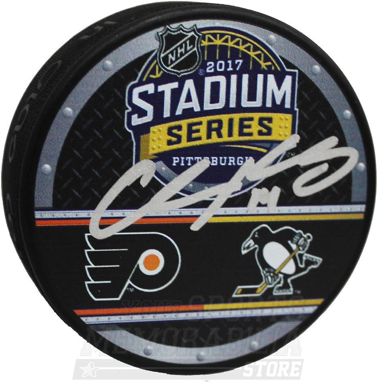 Chris Kunitz Pittsburgh Penguins Signed Autographed 2017 Stadium Series Puck