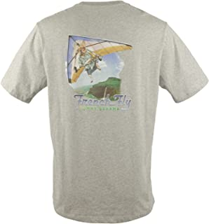 Tommy Bahama Men's T-Shirt French Fly Tee 100% Cotton Grey Heather