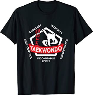 Taekwondo 5 Tenets Martial Arts ATA ITF Tae Kwon Do Gift T-Shirt