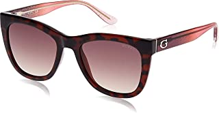 Guess Cat Eye Sunglasses for Women - Brown Lens, GU7552-52F