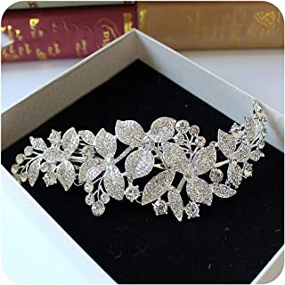 Alloy Rhinestone Bridal Frontlet Crown Indian Headpiece Wedding Hair Accessories