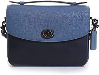 COACH Women's Mixed Leather Exotic Details Cassie Crossbody