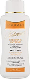 Makari Naturalle Carotonic Extreme BODY Lotion 17.6oz – Lightening, Toning & Moisturizing Body Cream With Carrot Oil & SPF 15 – Anti-Aging & Whitening Treatment for Dark Spots, Acne Scars & Wrinkles
