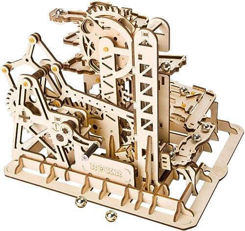 EP-Toy 3D Laserschneiden Holzmodell, Retro Wasserschutz mechanische rotierende Modell, Kinder p gogisches Spielzeug (227PCS, 10,1 × 9,1  × 8,1 )