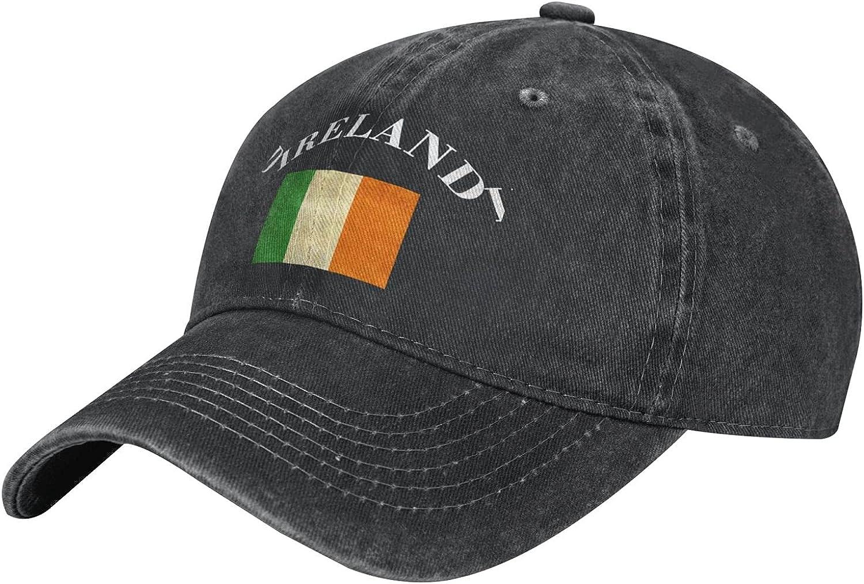 Men's/Women's Vintage Irish Ireland Retro Baseball Cap Vintage Adjustable Dad Sun Hat Black