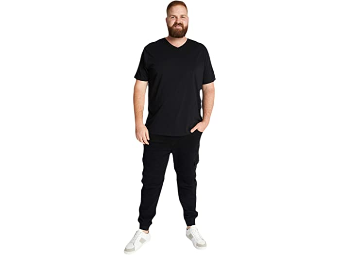 Johnny Bigg Big & Tall Essential V-neck Tee Black Shirts Tops