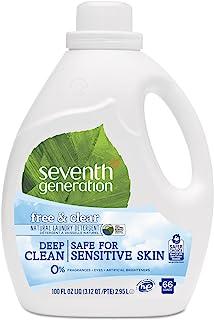 Seventh Generation Laundry Detergent Free Clear 100 fl oz 2 95 L