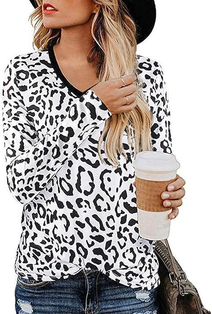 Women's Casual Cute Shirts Leopard Ranking TOP15 Print Basic online shop Sleeve Tops Short