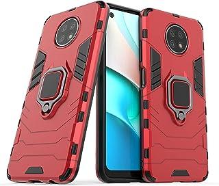 غطاء حماية من فترونجرت لهاتف شاومي ريدمي نوت 9 تي بتقنية 5 جي، بتصميم متين مضاد للصدمات ومزود بحامل (احمر)