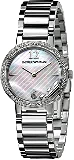 Emporio Armani Women's Classic Mother of Pearl Dial Stainless Steel Band Watch - AR0746