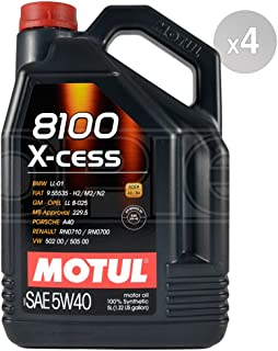Motul 102870-4 8100 X-Cess 5w40 Oil Case/4-5 Liters