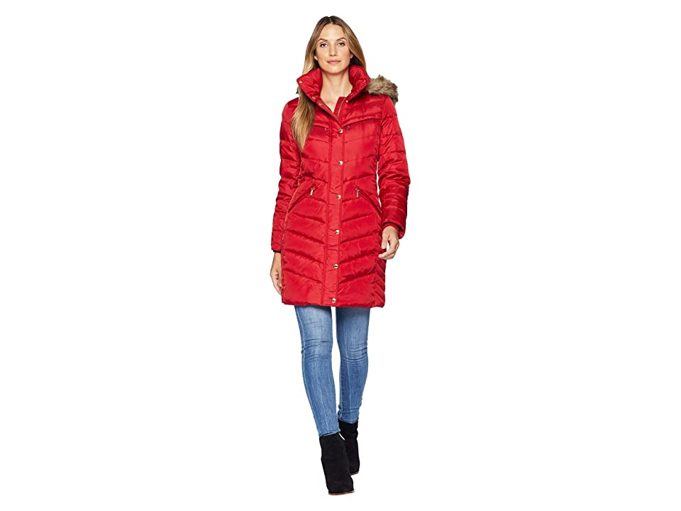 MICHAEL Michael Kors Snap Front 3/4 Down with Hood M823172G (Red) Women