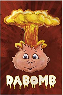 Dabomb Atomic Bomb Head Exploding Collector Doll Illustration Gross Humor Funny Cool Huge Large Giant Poster Art 36x54