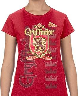 Disney Adult Junior Fashion Top Harry Potter Team Gryffindor Red
