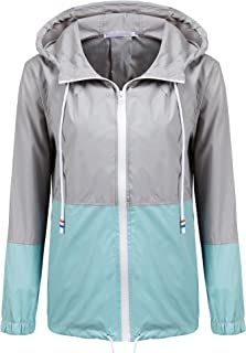 SoTeer Women's Waterproof Raincoat Outdoor Hooded Rain...
